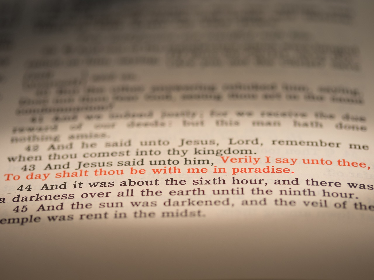 Seven Last Words of Christ - picture of bible passage