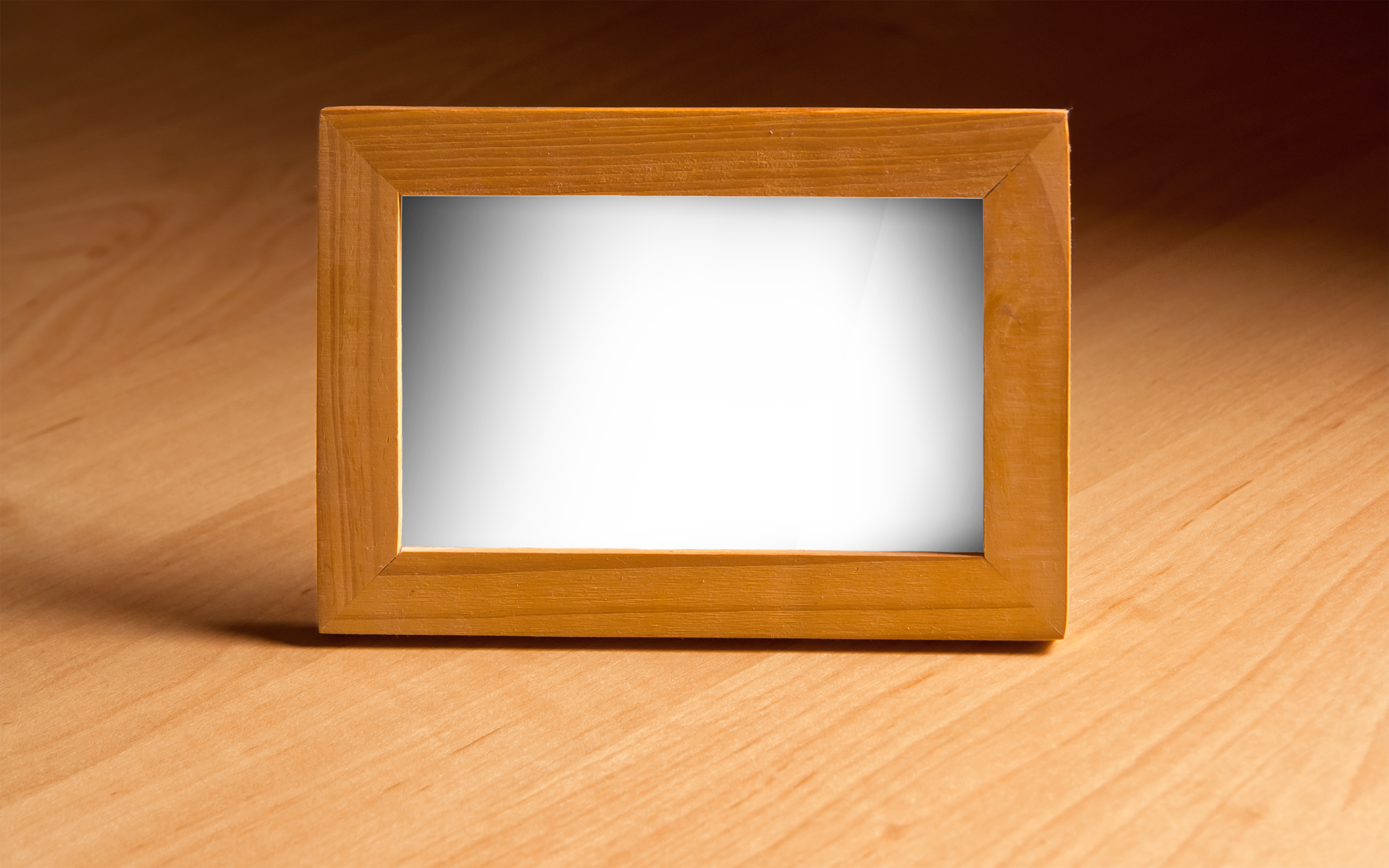 wooden-photo-frame-on-the-table